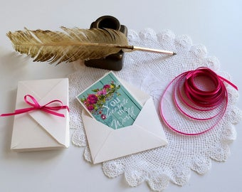 12pcs, Small Envelopes with  note cards, Gift Card Envelopes, Mini Envelopes, Thank You Cards