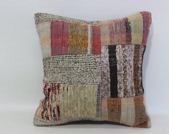 Cotton Chic Pillow 20x20 Unique Kilim Pillow Throw Pillow Cushion Cover Anatolian Kilim Pillow Throw Pillow Ethnic Pillow SP5050-1094