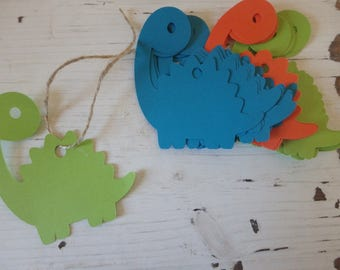 24 Dinosaur tags, Dino Tags, Dinosaur Gift tags, Dinosaur Party Favors, Dinosaur party theme, Large Dinosaur Tags, Land before time party