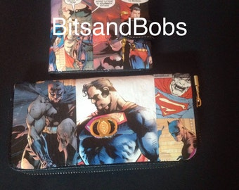 Him and hers wallet and purse, Batman V Superman Custom Purse and joker wallet