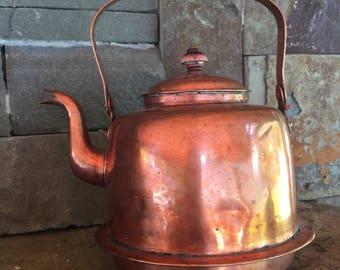 Vintage Copper Tea Kettle EXO EPIL'A' TAMPERE