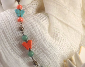 Bright butterflies bracelet