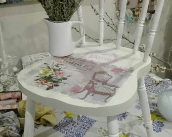 Solid wood Chair Shabby chic romantic old
