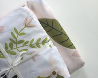 CRIB SHEET Blush pink floral custom printed crib sheet, baby bedding, modern nursery decor, crib bedding, fitted sheet, baby gift