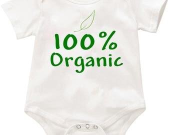 100% Organic  Onesie romper creeper Bodysuit