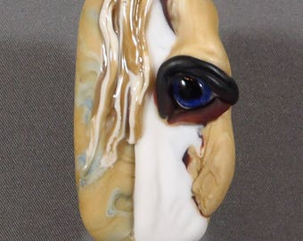 NEW!  Horse Focal Lampwork Glass Bead - Through the Eyes of Picasso Collection