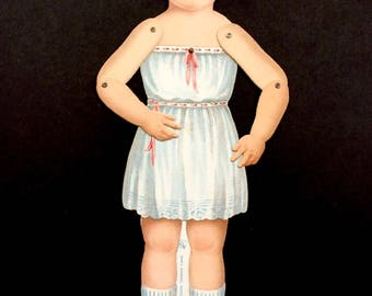 """Adorable 1919 Articulated Paper Doll """"Dorothy"""" by Sam'l Gabriel"""