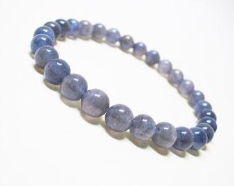 Iolite Bracelet Thirt Eye Chakra Bracelet Wrist Mala Bracelet Spiritual Bracelet Healing Bracelet Mens Bracelet 6mm Iolite Weight Loss