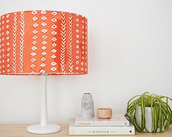 Arrows Coral Handmade Lampshade