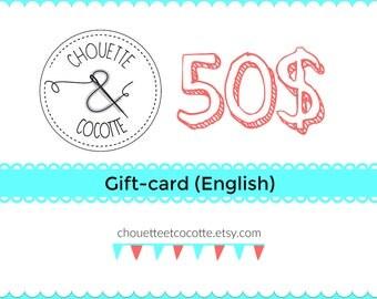 Gift-card (English)