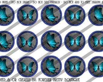 Blue butterfly bottle cap images