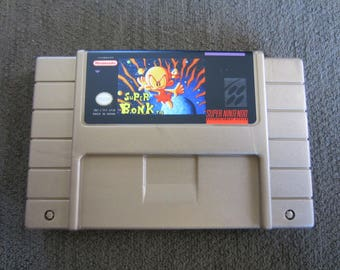 Super Bonk - Super Nintendo - Gold Cartridge