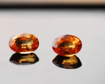 Orange Sapphire, Natural Loose Gemstones, Semi Precious Stone, Sapphire Stone, 2.48ct