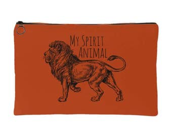 My Spirit Animal is a Lion Spirit Pouch