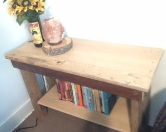 Reclaimed Wood Bed Table