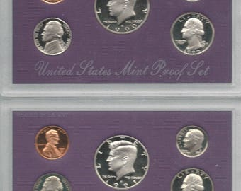 UNITED STATES 1990-1998 Sealed Proof Sets (SO)