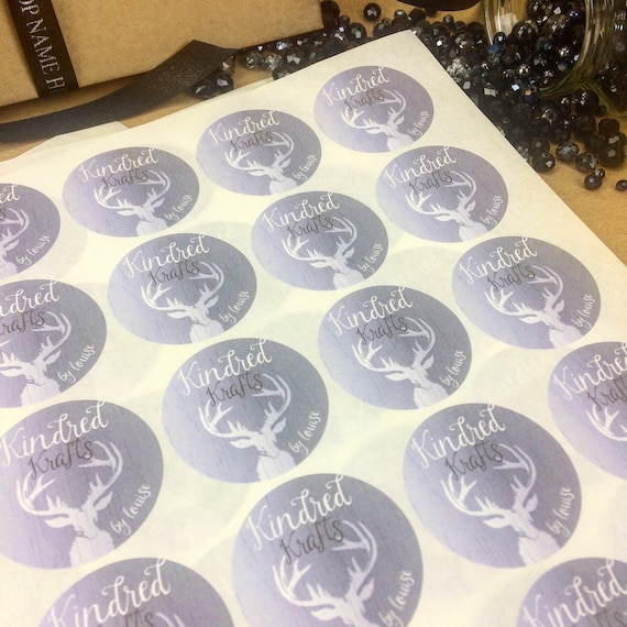 3 of 8 LOGO Printed Round Stickers - Custom Logo labels - postage labels  -Personalised