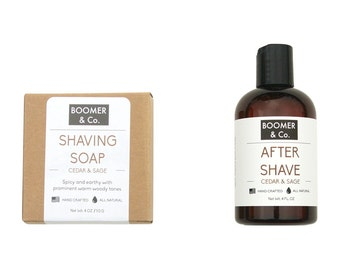 Cedar and Sage Shaving Kit