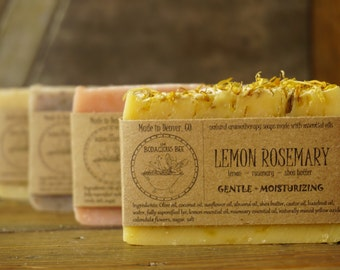 6 Artisan Soaps | All Natural Soap, Handcrafted Soap, Aromatherapy Soap, Handmade Soap, Essential Oil Soap, Cold Process Soap