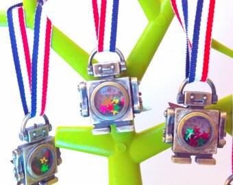 Handmade, steampunk, robot, steampunk ornament, robot ornament, steampunk tree ornament, steampunk robot, bauble, steampunk Christmas bauble