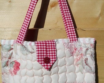 Romantic Quilted Tote Bag