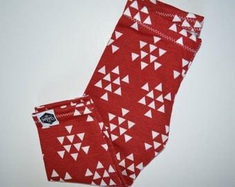 SALE || Red Triangles - Baby Leggings, Toddler Leggings, Christmas