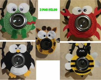 Crochet Camera Lens Buddies Packages