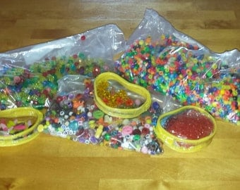 Pony Assorted Beads includes alphabets, stars and more. Over 2lbs