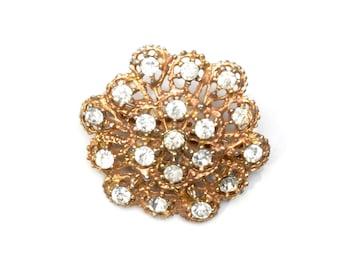 Brooch, rhinestone brooch