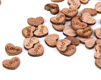 Wooden Hearts Love Confetti, Wedding Confetti, Love Confetti, Wooden Confetti, Love Hearts