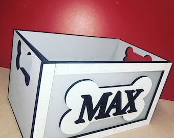 Handmade personalised toy box for dogs