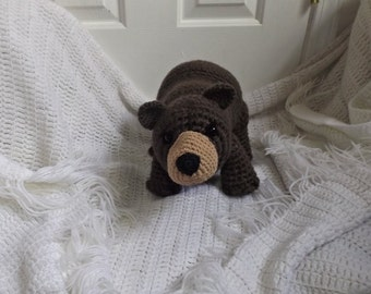 Brown Bear, Crochet Bear, Stuffed Animal, Plushie, Photography Prop, Woodland Animal, Woodland Decor, Gift for Her, Gift for Him