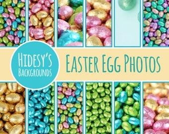 Easter Egg Photo Digital Papers / Scrapbooking Paper / Background / Pattern / Digital Download