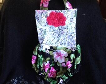 Girls Designer  Tropical Hawaiian  Romper, Toddler Romper, Baby Romper, Hibiscus Flower Romper, Hawaiian Romper