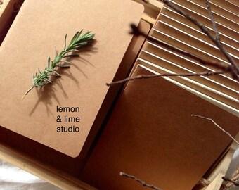 BULK BUY 100x A5 Kraft Vintage Journal Memo Notebook Paper Notepad Blank Diary - DIY
