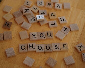 Individual Scrabble letter tiles, Authentic Scrabble Tiles, Scrabble Letters A to Z, Scrabble Tiles, Genuine Scrabble tiles