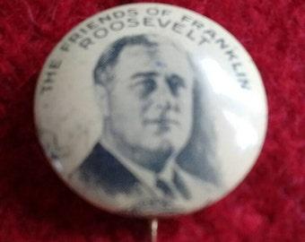 1933 Friends of Franklin Roosevelt  political pin