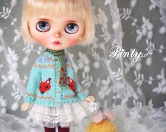 Blythe handmade sweater【The love knot of fox】/Neo blythe/Azone/licca