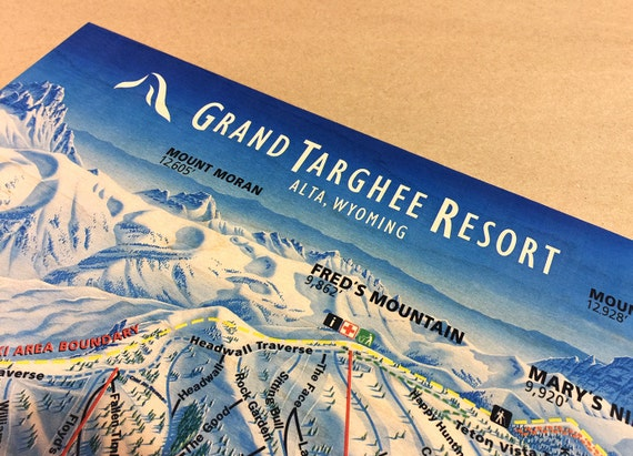 Grand Targhee Ski Resort Maple Wood Trail Map