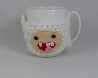 Finn the Human (Adventure Time) mug cozy