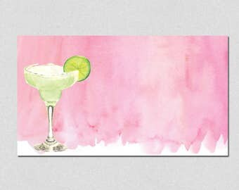 Printable Place Cards, Margarita Party Place Cards, Fiesta Place Cards, Print at home, Watercolor Margarita