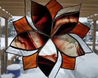 Beautiful sun catcher swirl. Made to order, looks amazing in a window.