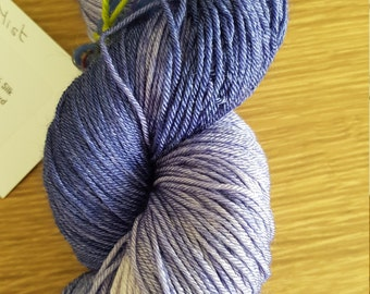 100g 4 Ply 75 Merino/25% Mulberry Silk Luxury Hand Dyed Yarn - Lilac Mist