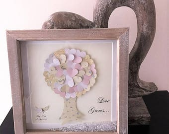 Personalised wedding gift Tree of life Wedding gifts for couple Wedding gifts personalized Family tree art First Anniversary gift paper