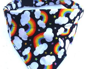 Dog Collar, Rainbow Dog, Rainbows, Dog Bandana Collar, Dog Bandana, Dog Collar, Summer Dog Collar, Large Dog Collar, Small Dog Collar