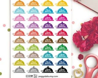 Food Delivery Planner Stickers | Life Planner | Food Order | Take Out | Meals Delivery