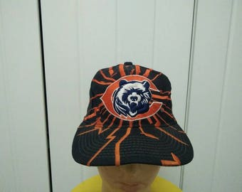 Rare Vintage STARTER CHICAGO BEARS Big Logo Embroidered Cap Hat Free size fit all