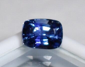 Ceylon Natural Blue Sapphire Cushion Cut 7.53 mm 1.93cts - Loose Unset Untreated Sapphire Gemstone