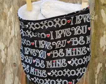 Valentine's Day Bib - Baby Drool Bib - Toddler Bib - Absorbant Baby Bib