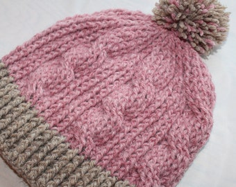 Crochet Women's Cable Hat